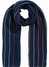 Stripe And Plain Textured Scarf