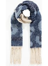 Super Soft Stripe and Animal Print Scarf
