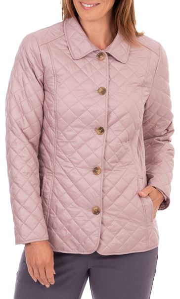 Anna Rose Quilted Fitted Jacket Faded Rose