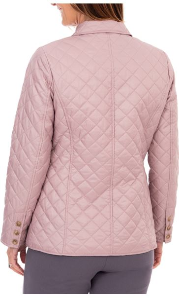 Anna Rose Quilted Fitted Jacket Faded Rose - Gallery Image 2