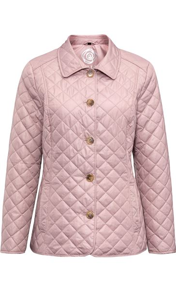 Anna Rose Quilted Fitted Jacket Faded Rose - Gallery Image 3