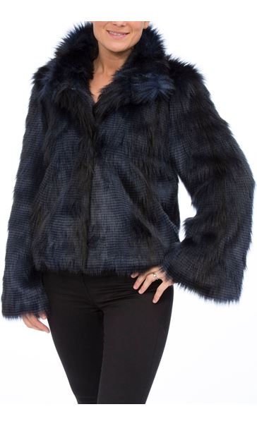 Faux Fur Wide Sleeve Coat