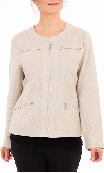 Anna Rose Zip Jacket Natural