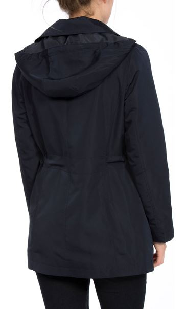 Anna Rose Double Breasted Zip Coat Navy - Gallery Image 2