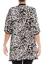 Printed Knit Open Cover Up Browns - Gallery Image 2
