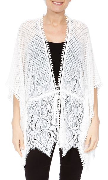 Self Tie Lace Cover Up
