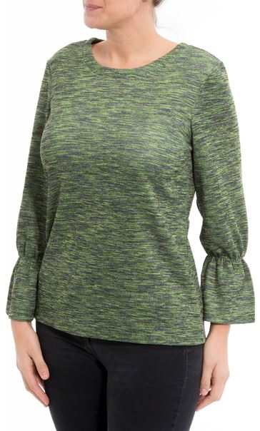 Shimmer Round Neck Top Apple