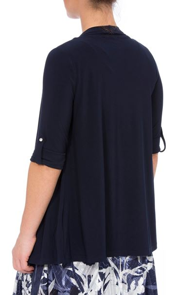 Anna Rose Embellished Open Cover Up Navy - Gallery Image 2