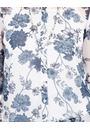 Anna Rose Printed Chiffon Blouse With Necklace White/Multi Blue - Gallery Image 4