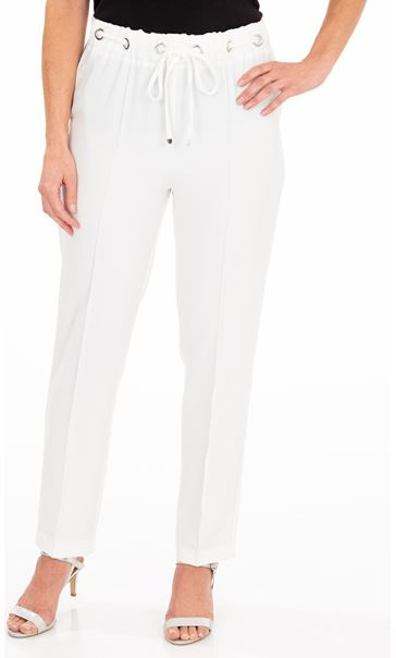 Anna Rose Pull On Crepe Trousers Ivory