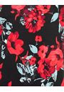 Anna Rose Floral Fitted Sleeveless Dress Red/Black - Gallery Image 4