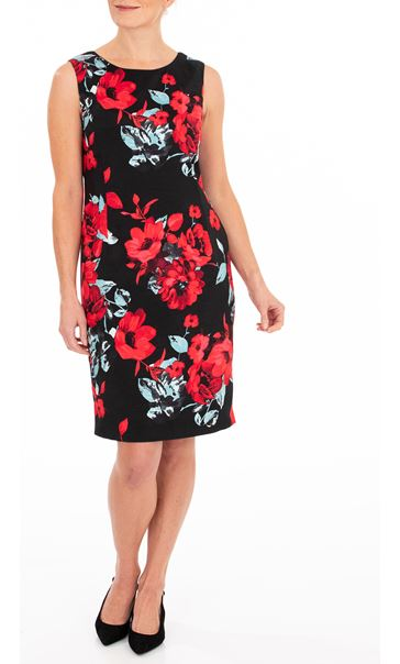 Anna Rose Floral Fitted Sleeveless Dress