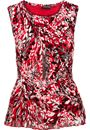 Anna Rose Pleated Top With Necklace Red/Black - Gallery Image 3