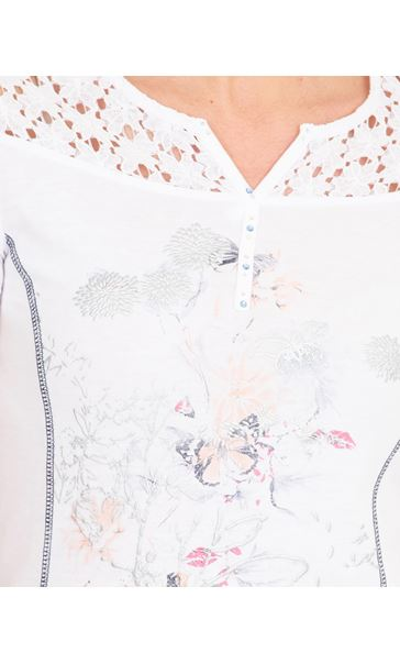 Anna Rose Printed Short Sleeve Top White/Multi - Gallery Image 4