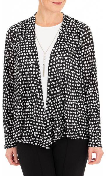 Anna Rose Two Piece Top Set With Necklace Black/Ivory