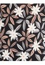 Anna Rose Flower Print Stretch top Black/Coral - Gallery Image 4