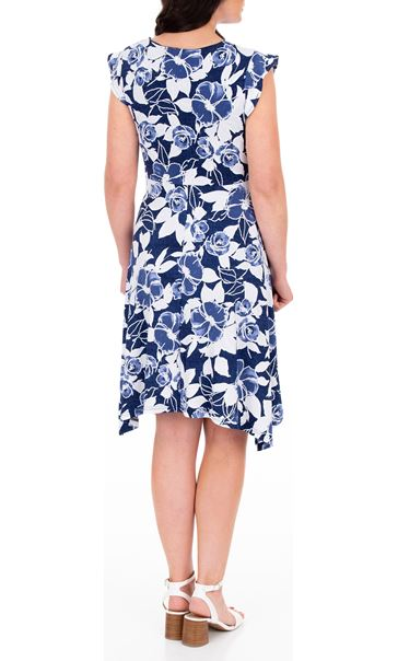 Anna Rose Hanky Hem Floral Dress