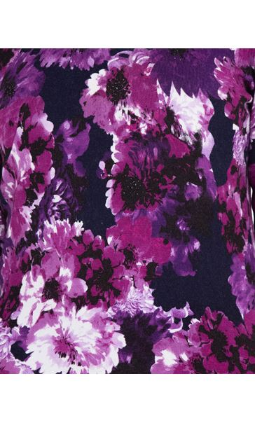 Anna Rose Embellished Floral Knit Top Midnight/Purple - Gallery Image 4