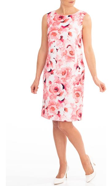 Anna Rose Floral Printed Sleeveless Dress Pinks