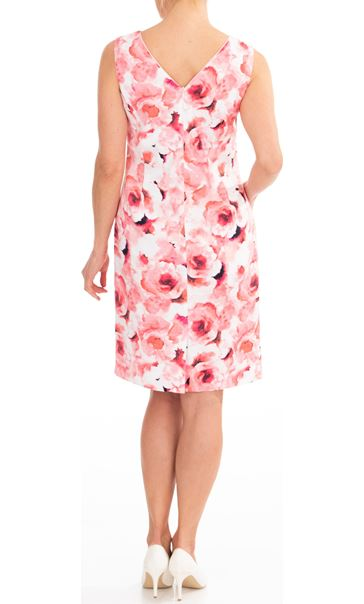 Anna Rose Floral Printed Sleeveless Dress Pinks - Gallery Image 2