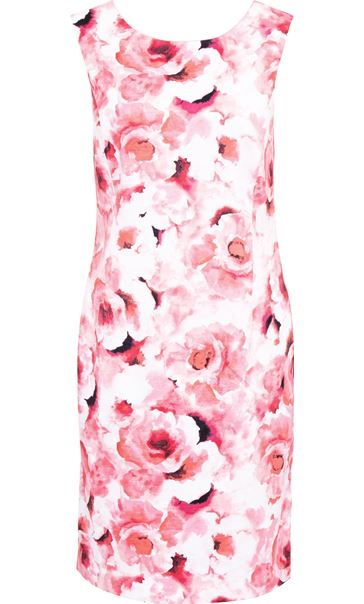 Anna Rose Floral Printed Sleeveless Dress Pinks - Gallery Image 3