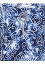 Anna Rose Printed Stretch Dress With Necklace Blue/White - Gallery Image 4