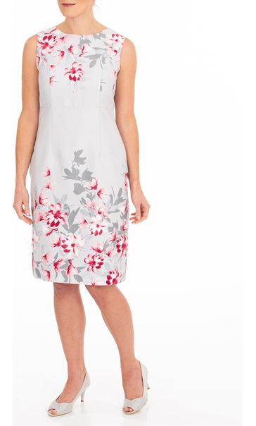 Anna Rose Border Print Fitted Dress