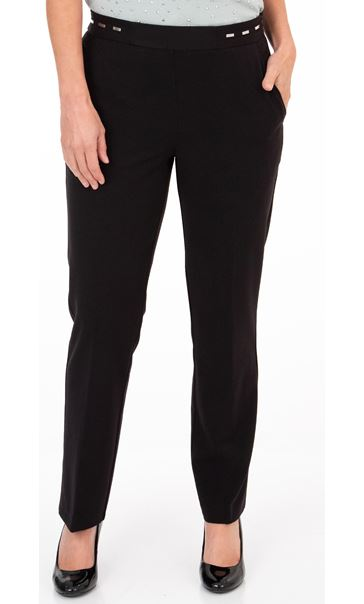 Anna Rose Straight Leg Trouser 29 inch Black - Gallery Image 1
