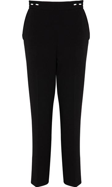 Anna Rose Straight Leg Trouser 29 inch Black - Gallery Image 3