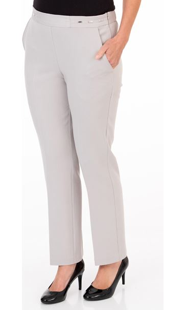 Anna Rose Straight Leg Trouser 27 inch Sand
