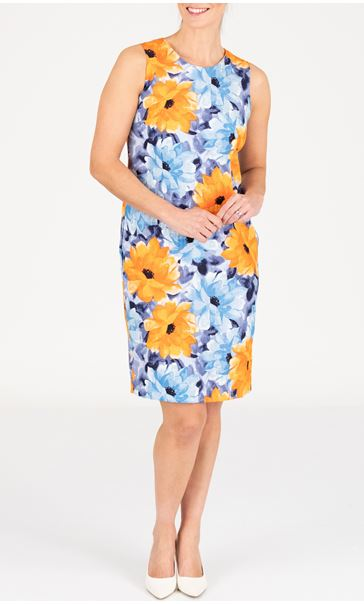Anna Rose Floral Print Shift Dress