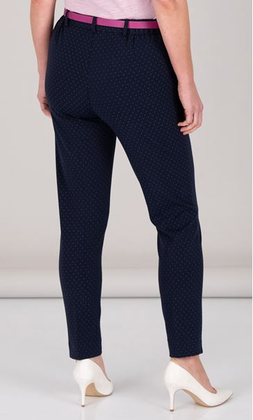 Anna Rose Spot Trousers With Belt