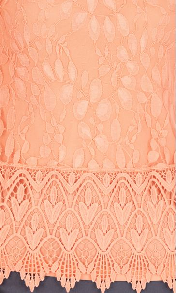 Anna Rose Lace And Crochet Top Peach - Gallery Image 3