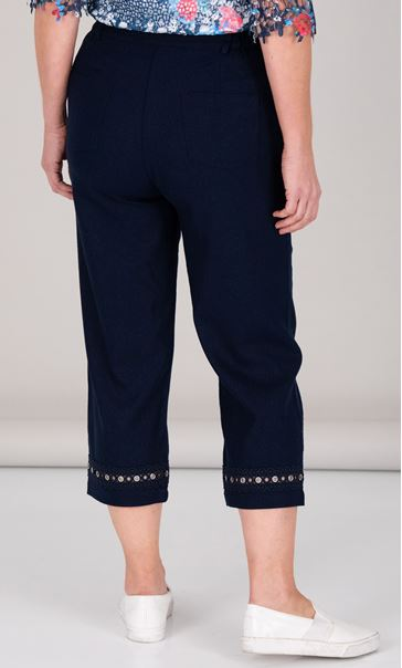 Anna Rose Cropped Linen Blend trousers