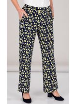 Anna Rose Floral Jersey Trousers