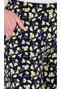 Anna Rose Floral Jersey Trousers Navy/Yellow - Gallery Image 3