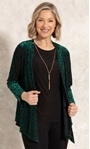 Anna Rose Two Piece Top With Necklace Green/Gold - Gallery Image 1