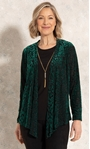 Anna Rose Two Piece Top With Necklace Green/Gold - Gallery Image 3
