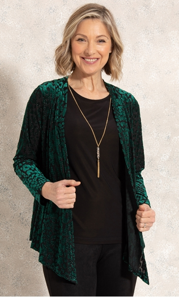 Anna Rose Two Piece Top With Necklace Green/Gold