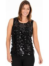 Sleeveless Beaded Top
