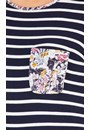 Anna Rose Striped And Floral Jersey Top Midnight/Multi - Gallery Image 3