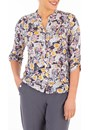 Anna Rose Floral Print Jersey Blouse With Necklace Midnight/Multi - Gallery Image 1