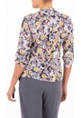 Anna Rose Floral Print Jersey Blouse With Necklace Midnight/Multi - Gallery Image 2