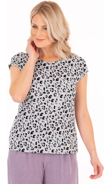 Supersoft Leopard Print Short Sleeve Tshirt