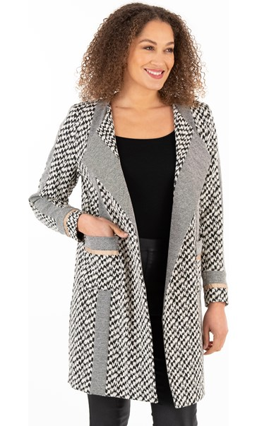 Open Front Knitted Coat