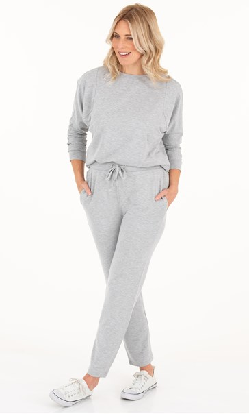 Cosy Embellished Joggers Pale Grey