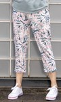 Cosy Floral Printed  Cropped Joggers Pink/Soft Green - Gallery Image 3