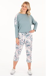 Cosy Floral Printed  Cropped Joggers