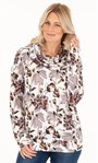 Supersoft Floral Printed Cowl Neck Sweatshirt Ivory Floral - Gallery Image 2
