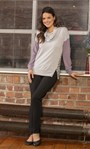 Supersoft Colour Block Brushed Top Grey/Lavender - Gallery Image 1